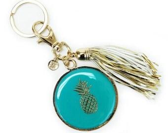 Pineapple Enamel Key Chain