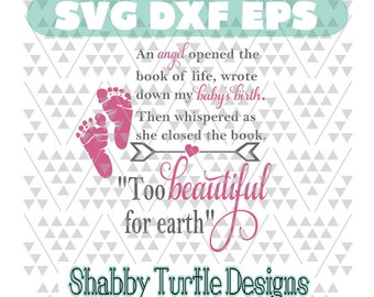 Boy & Girl  *To Beautiful for earth quote SVG DXF EPS