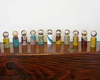 Peg Doll set: The Last Supper - Jesus and his disciples