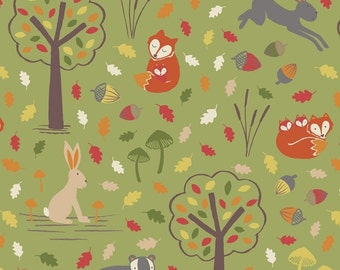 Lewis & Irene- Fox and Friends 100% Quilting Cotton Sewing Fabric