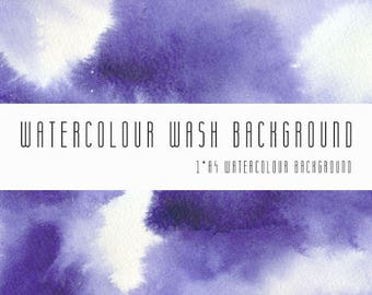 Watercolour Wash Background Digital Paper. A4, printable, free commercial use