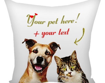 Custom Pet Pillow From Your Photo, pillow pets personalized, pets pillow, custom pillow Your Photo, print my pets photo