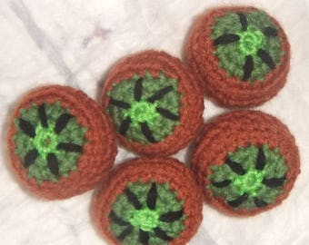 Self-crochet Kiwi set for kids shop