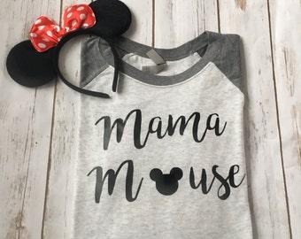 Raglan style mama mouse shirt