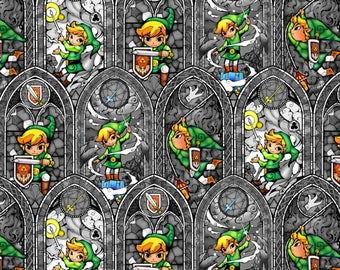 Zelda Stained Glass Cotton fabric