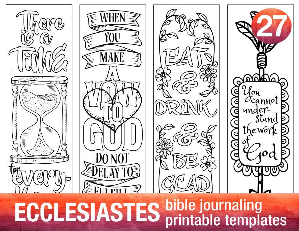 Ecclesiastes 4 Bible Journaling Printable Templates