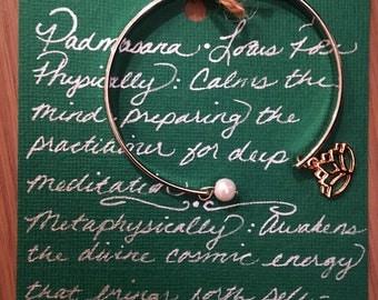 Lotus Pose Inspired Bracelet