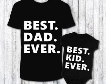 Father Son shirt set - fathers day gift - first fathers day gift - cute baby gift idea - matching shirt set - funny matching shirt