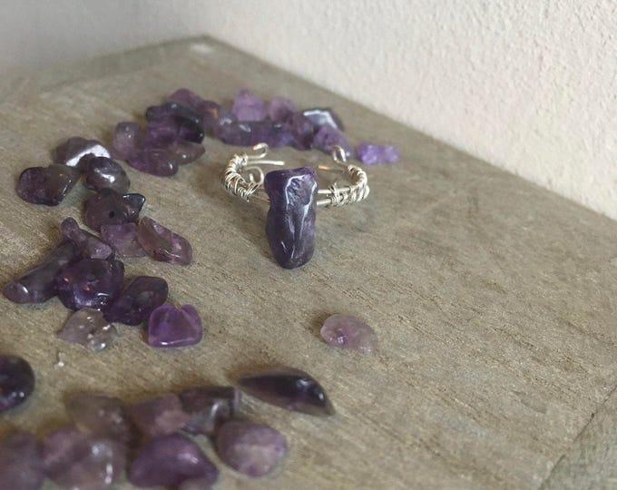 930 Sterling Silver Amethyst Ring