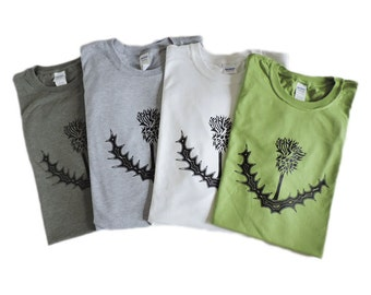 Scottish Thistle Design T-shirt