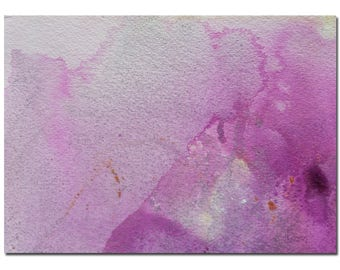 "Small Abstract Painting, 7""x5"" Original Purple, Silver, Abstract Painting, Watercolor Painting,Abstract Art,Original Art,Gift for Mom"