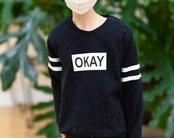BJD SD17 Okay Sweatshirt - Black