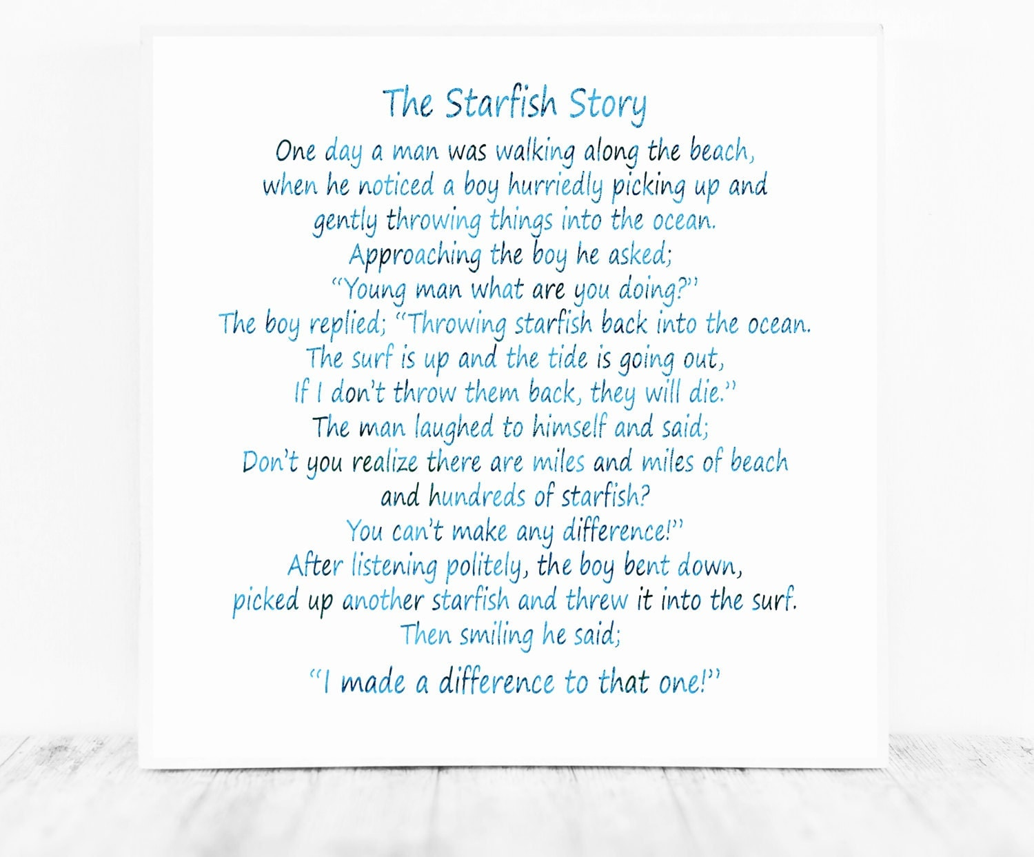Starfish poem card - Starfish Poem Card 10