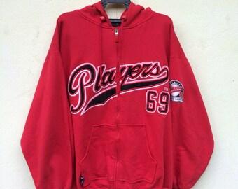 Playerz69 Hoodie Sweater Jacket Skate Hip Hop Size XL