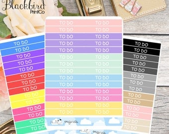 Header Planner Stickers - Customizable Labels! [BR0004]