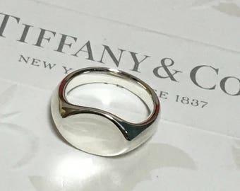 Excellent Authentic Rare Tiffany & Co. Elsa Peretti Oval Ring Size 6