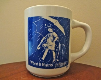 Morton Salt When It Rains It Pours Advertising Coffee/Tea Mug