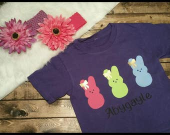Personalized Easter Peep Name Shirt