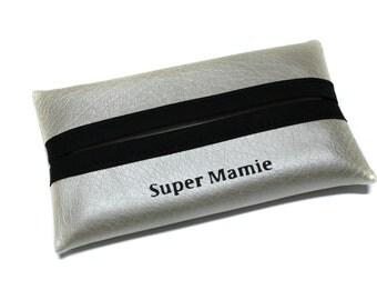 custom leather, custom gift tissue case