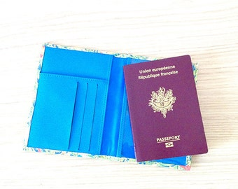passeport cover cards printed jungle, parrots • Collection PARROT PARADISE