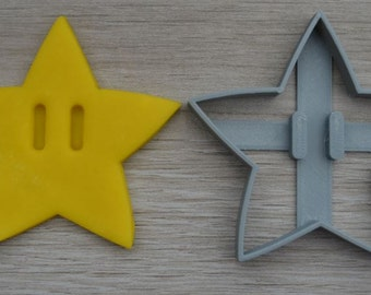 Super Mario Star 1UP Cookie Cutter Fondant Cutter