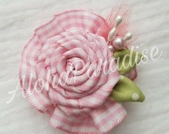 Emily's Handmade Ribbon Rose Flower Piece