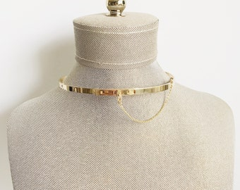 NEW ARRIVAL! Safety Chain Choker_  Gold/Rose/Silver_ Small Version