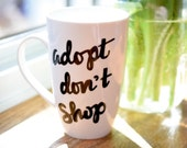 """Cat Mug Dog Mug """"Ado..."""