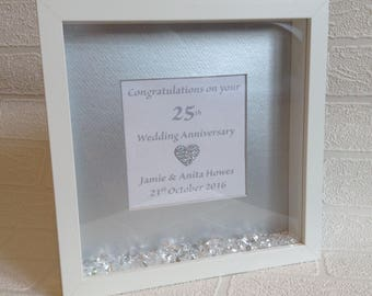 Silver Wedding Gift Frame 25th Anniversary Parents