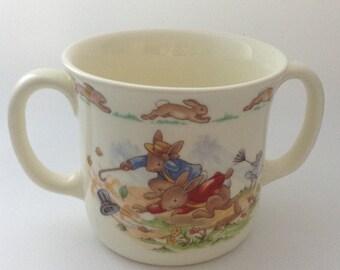 Vintage Royal Doulton Bunnykins Two Handled Children's Mug/Cup - Windy Day