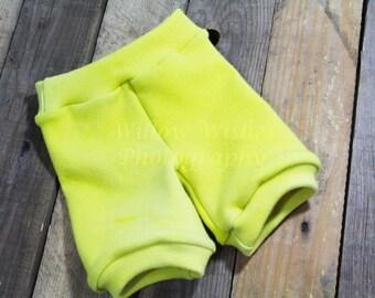 Wool Interlock Bubble Shorts, Yellow or custom