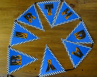 Hot wheels  cars style  Birthday Bunting