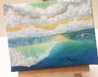 Small ocean painting by ryan rinard