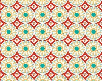 "Riley Blake designs by Amanda Herring  ""Ardently Austen""  Medallions  Red"