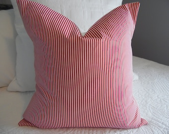 VALENTINE'S DAY.White.Stripe.Pillow Covers. Decor.Independance Day.4th of July.Memorial Day.Slip Covers.Home Decor
