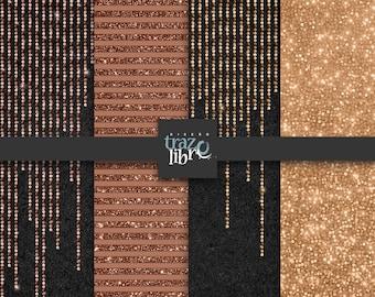 Digital Paper GLITTER LIGHTS   digital Download   Scrapbook paper   digital glitter   digital clip art   sparkling lights   copper paper