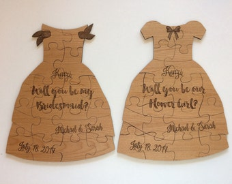 Flower Girl - Bridesmaid - Bride Puzzle - Will You Be My Puzzle - Maid of Honor - Puzzle Gift - Gift For Flower Girl Wedding Gift