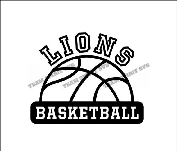 Lions Half Basketball Download Files SVG DXF EPS