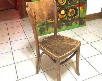 Vintage Polish Chair, Made In Poland, Collectible Chair, Corner Chair, Rustic Chair, Sturdy Chair, Distressed Chair, SWAGcollectibles, Chair