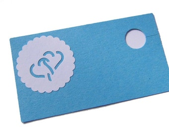 Trailers badge of Glasmarkierer place card wedding blue wedding decor wedding place cards