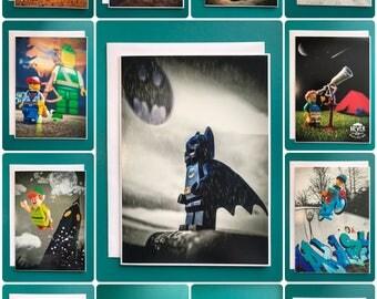 Lego birthday cards   Lego greeting card   Lego cards   Boy's  birthday card   Girl's birthday card   Lego artwork   Lego birthday