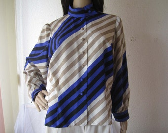 Vintage 60s silk blouse silk blouse unique S / M