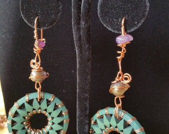 Royal Wheel earrings (wooden)