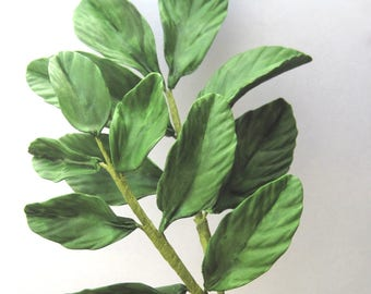 Dark Green Leaf Sprays - gum paste filler flowers cake toppers gum paste leaves gumpaste flowers