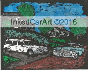 1962 Buick Ambulance 1959 Edsel wagon