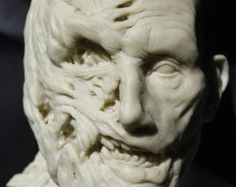 Pumpkin Zombie Resin Bust Model Kit Life Size