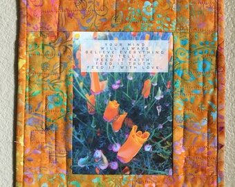 Art Quilt-Feed Your Mind With Love