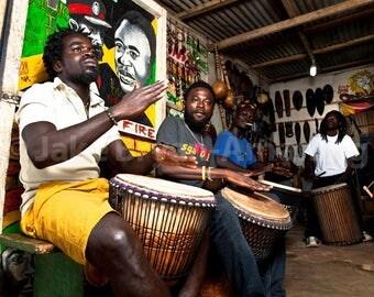 Ghanaian Drummers Photograph