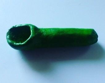 Green Smoking Pipe