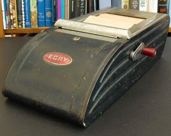 Antique Egry Cash Register and Recorder Machine, Tru Pak, Egry Register Co, Bill of Sale Receipt Machine, Slip Holder, Industrial Decor